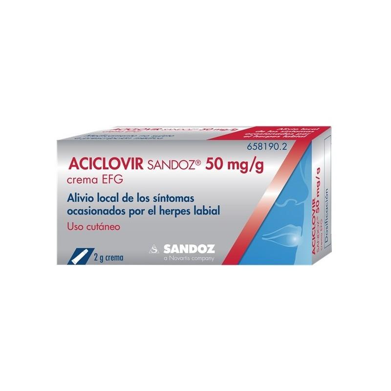 ACICLOVIR TOPICO SANDOZ EFG 5% CREMA 2 G