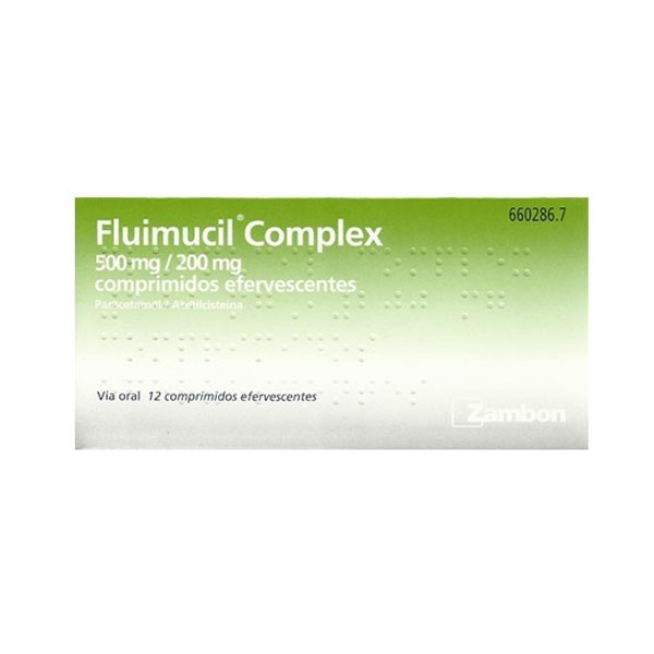 FLUIMUCIL COMPLEX 500/200MG – 12 COMPRIMIDOS EFERVESCENTES