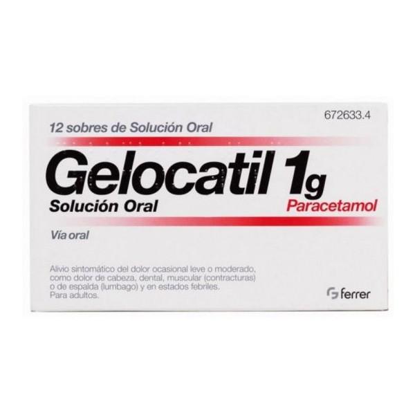 GELOCATIL 1G SOLUCION ORAL – 12 SOBRES