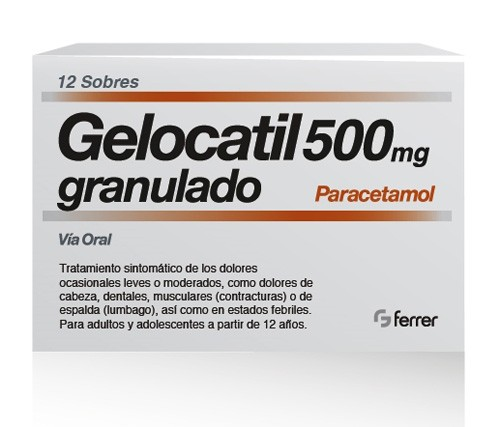 GELOCATIL 500MG GRANULADO – 12 SOBRES