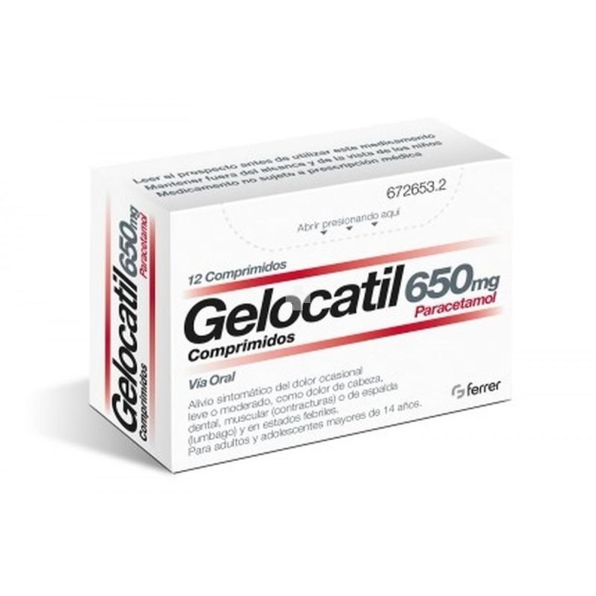 GELOCATIL 650MG – 12 COMPRIMIDOS